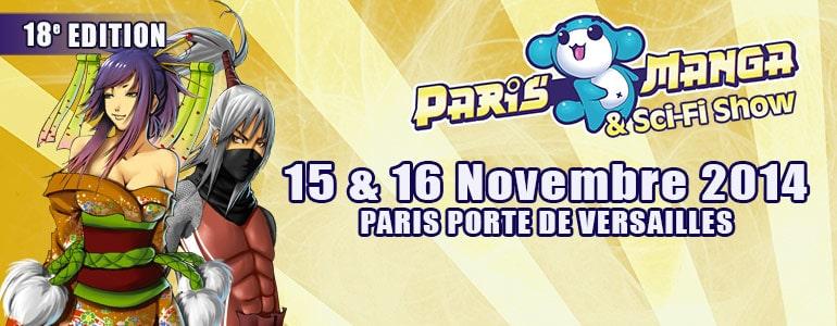 PARIS MANGA le 15 et 16 novembre 2014