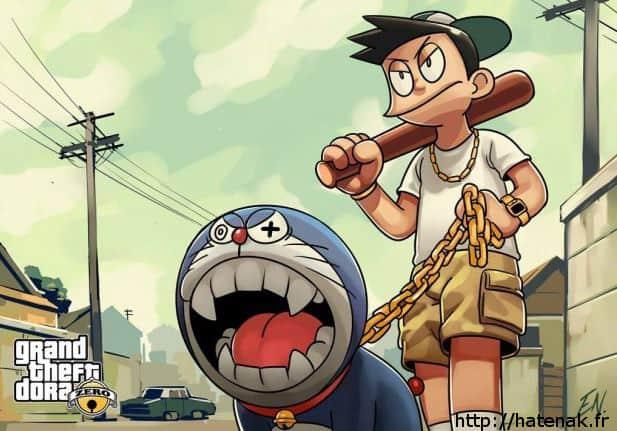 Doraemon x GTA V