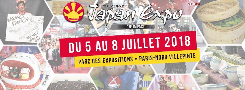 Japan Expo du 5 au 8 juillet 2018