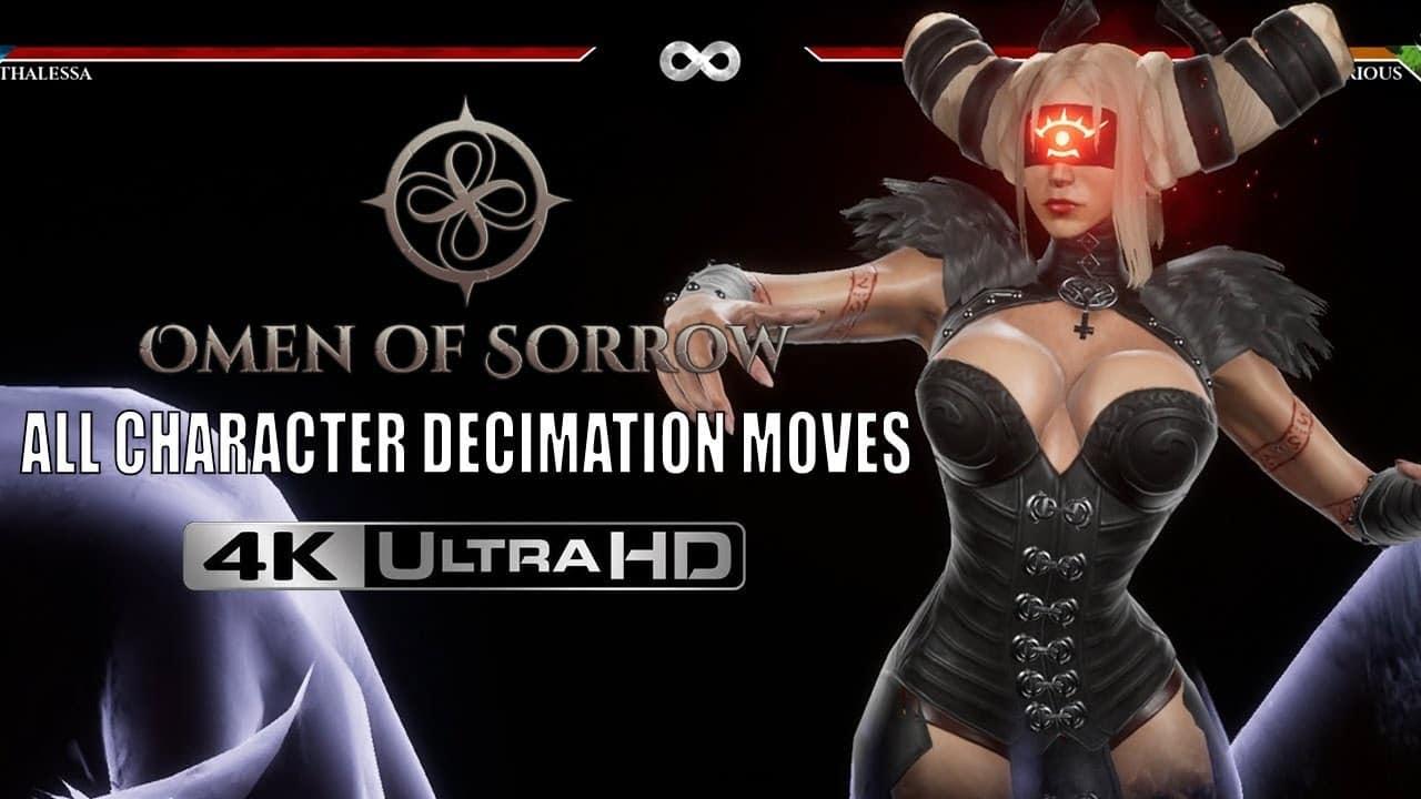Nouvelle vidéo de toutes les attaques spéciales du jeu «Omen Of Sorrow»
