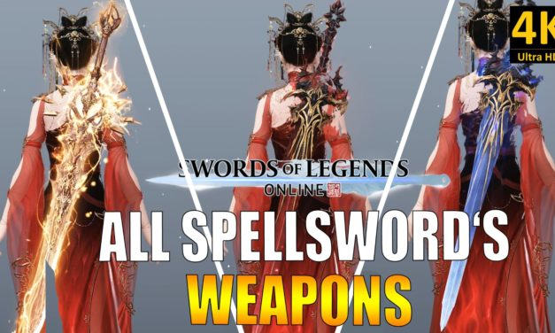 SWORD OF LEGENDS ONLINE – Toutes les armes du mage épéiste